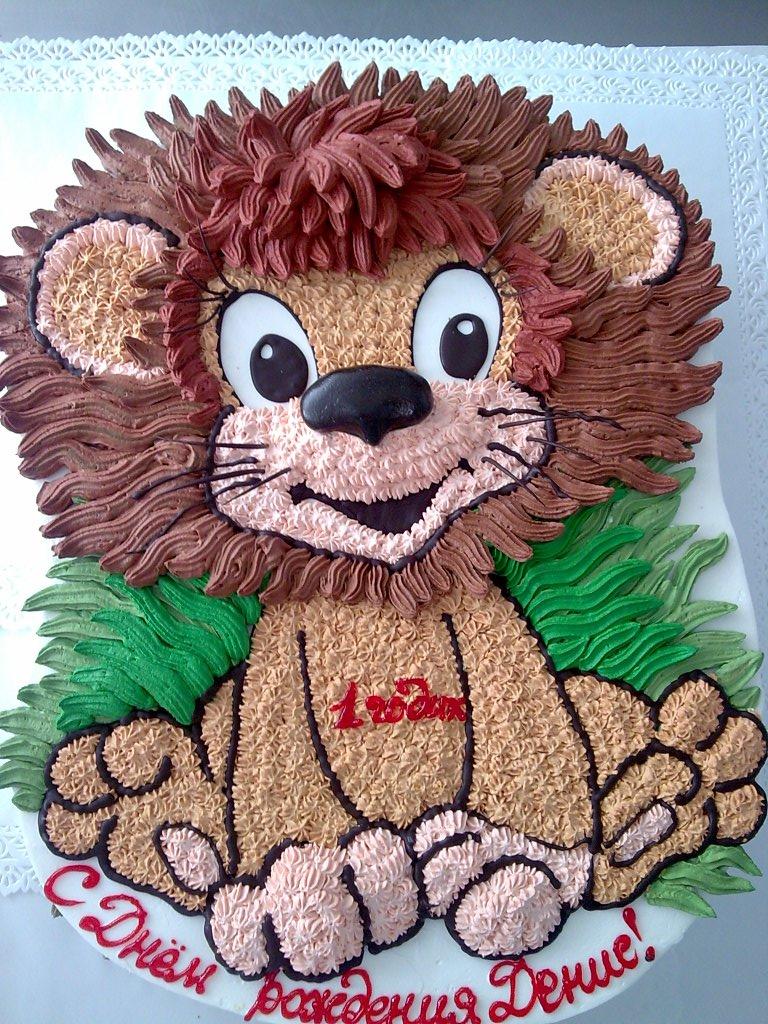 детский тортик львенок, торт львенок на день рождения ребенку, детский торт на праздник, торт на годик ребенку.